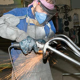 grinding the welds